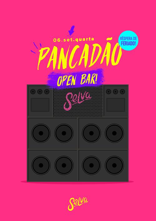 Pancadão ✚ Open Bar ✚ Funk, Pop & Hip Hop (Véspera de Feriado) ✚