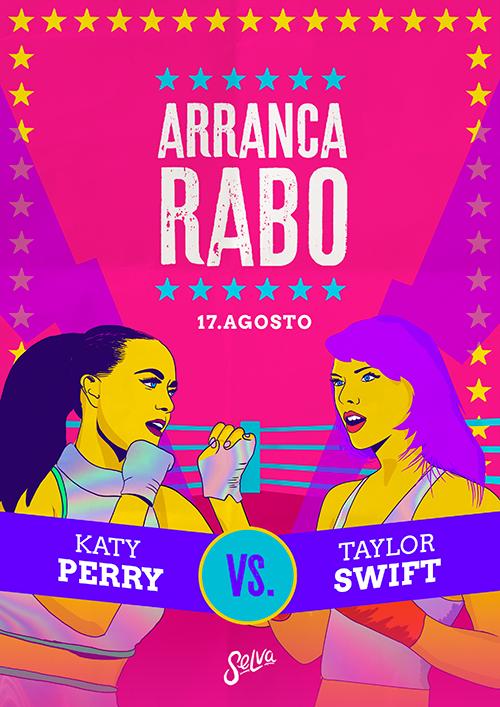 Arranca Rabo ✵ Free até 01h! ✵ Katy Perry VS Taylor Swift ✵