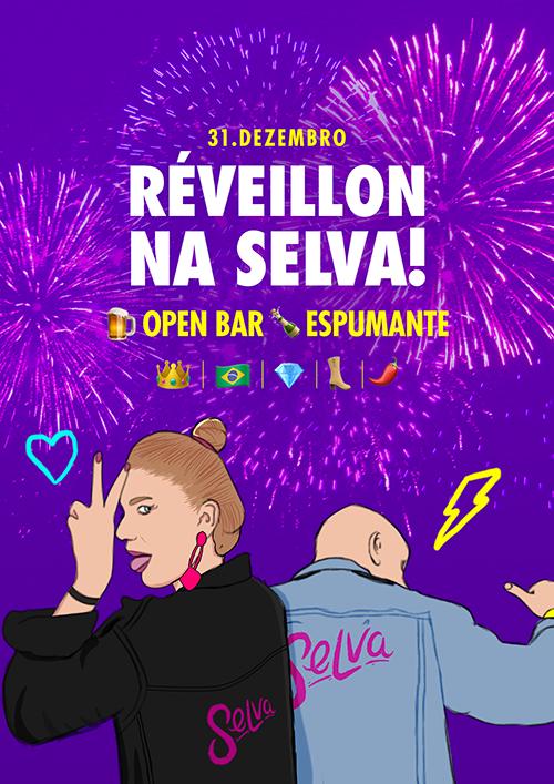 Réveillon na Selva! ✭ Open Bar ✭ Um Ano Novo com Fotocabine e 20 atrações!