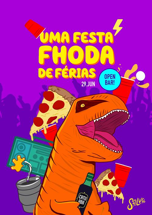 Uma Festa Fhoda de Férias ✧ Open Bar ✧ Sexta (29.06) na Selva