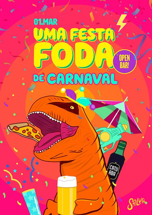 Uma Festa Fhoda de Carnaval! ✧ Open Bar com Touro Mecânico!