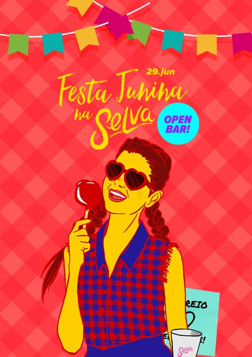 Festa Junina na Selva! ♢ Open Bar ♢ Mais de 15 atrações típicas!