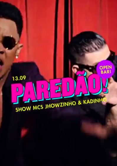 Paredão ✧ O Baile Funk Open Bar ✧ Show: MCs Jhowzinho & Kadinho
