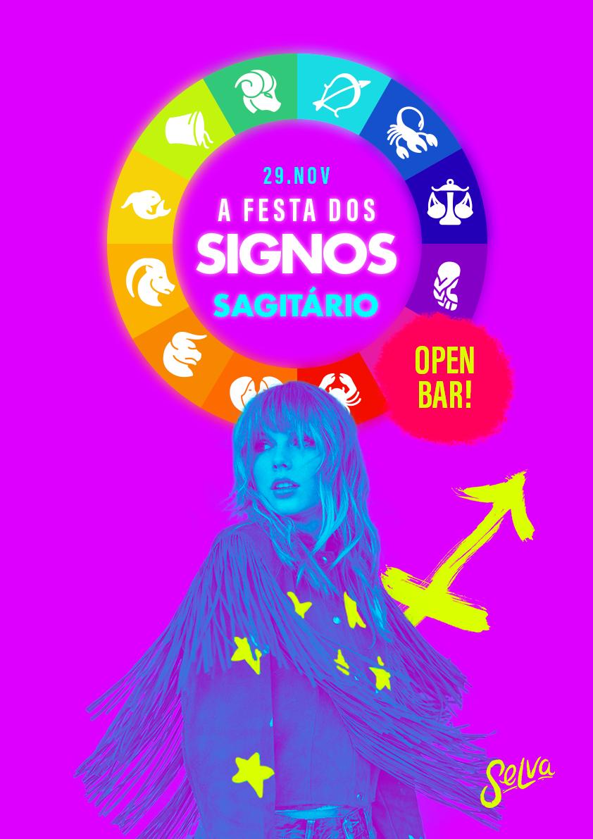 A Festa dos Signos Open Bar! ☾ Sagitário na Selva! ☾ Sexta 29.11